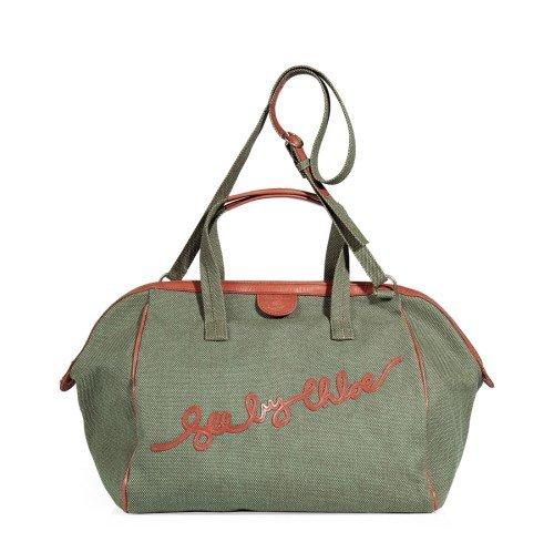 See by Chloe Army und Rose Bowling Tasche mit Tragegurt