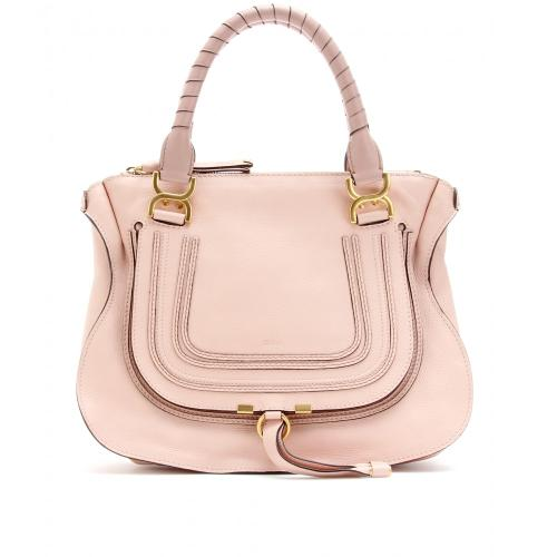 Chloé Marcie Medium Ledertasche Rosa
