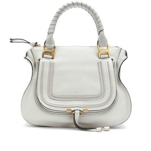Chloé Handtasche Weiß Marcie Medium Leder