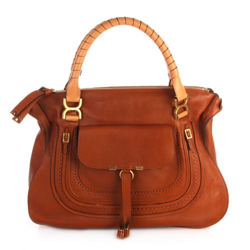 Chloé Marcie Large Shoulder Bag Mahogany