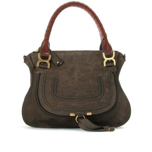 chlo marcie medium ledertasche dunkelbraun designer handtaschen paradies it bags burberry. Black Bedroom Furniture Sets. Home Design Ideas
