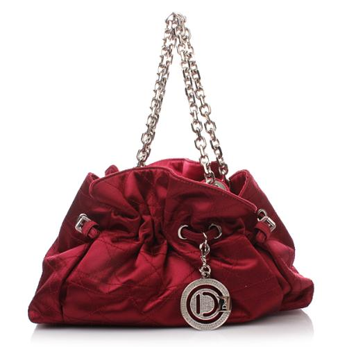 Christian Dior Mini Shop Eve Satin Bordeaux
