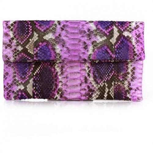 Civette Clutch Python Pink Multicolor