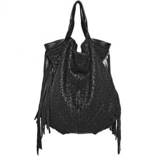 Claramonte - Alicante Gewebte Woll & Leder Handtasche