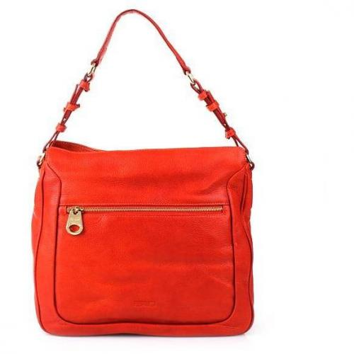 Claudio Ferrici Posh Due Zip Shoulderbag Orange