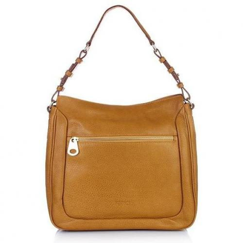 Claudio Ferrici Zip Shoulderbag Mustard