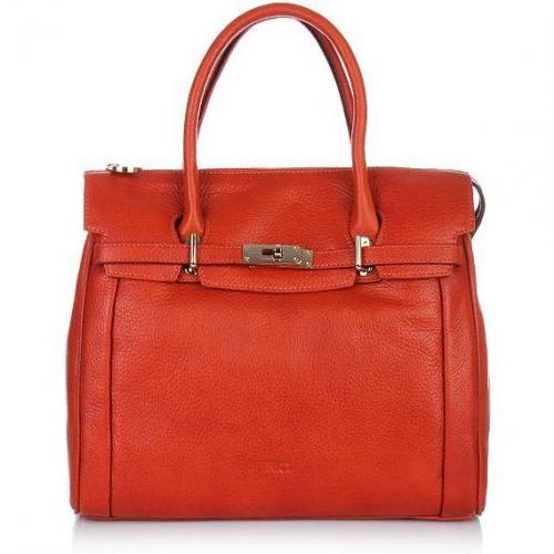 Claudio Ferrici Zip Tote Orange