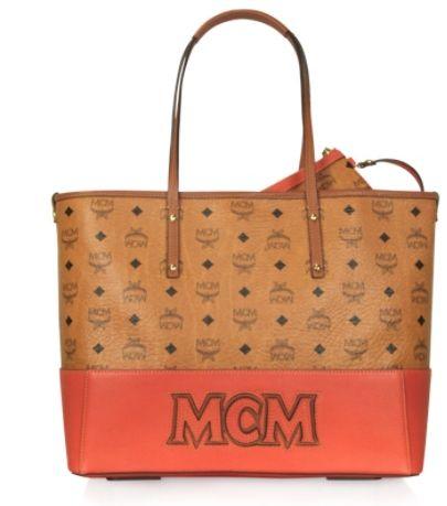 MCM Heritage Line - Mittelgroße Handtasche in zwei Farben