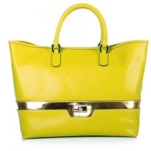Coccinelle Borsa Evelin Saffiano Limone/Oro