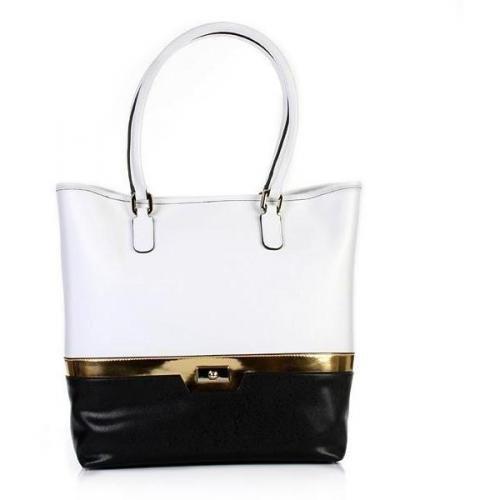 Coccinelle Borsa Shopper Evelin Saffiano Cuoio/Oro/Nero