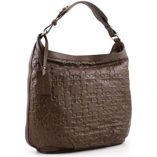 Coccinelle Dressy Leather Beuteltasche Leder natur