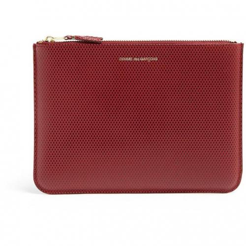 Comme des Garcons Red Luxury Leather Clutch