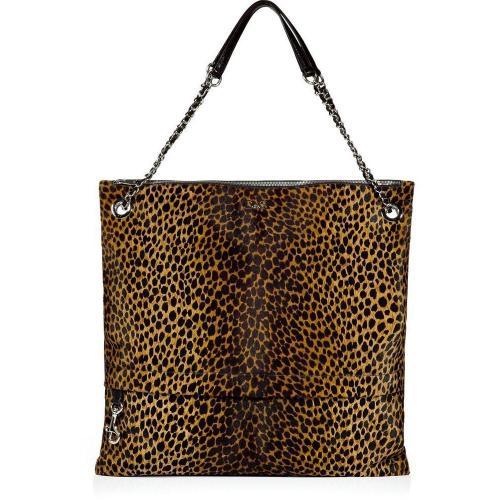 D&G Dolce & Gabbana Leopard Print Calf Hair Bag
