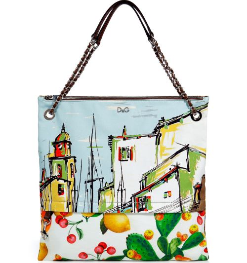 D&G Printed Canvas Tasche Multicolor