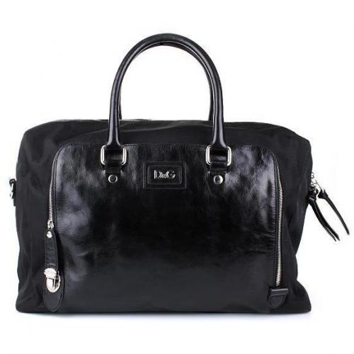D&G Shopper Nylon/Leather Black
