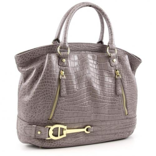 Aigner All In Shopper Leder grau
