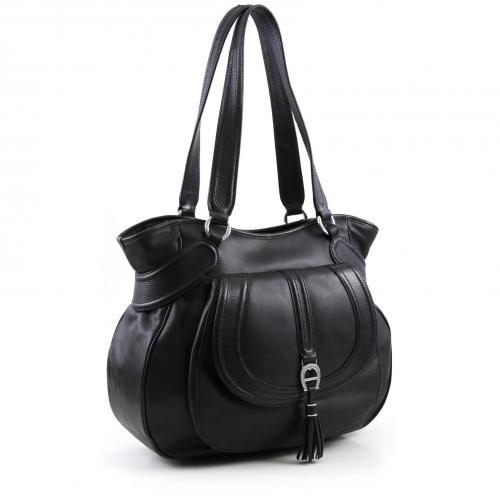Aigner Soft Modern L Shopper Leder schwarz