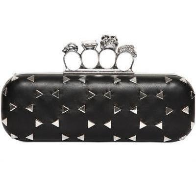alexander mcqueen nieten leder knucklebox clutch schwarz designer handtaschen paradies it. Black Bedroom Furniture Sets. Home Design Ideas
