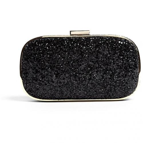 Anya Hindmarch Black Glitter Marano Clutch