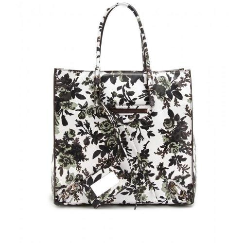 Balenciaga Ledershopper Mit Floralem Print