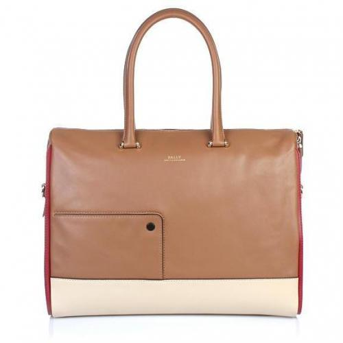 Bally Varble Business Bag Biscuit