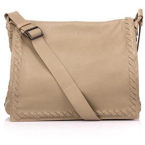 Bottega Veneta Beige Leather Shoulder Bag Intrecciato