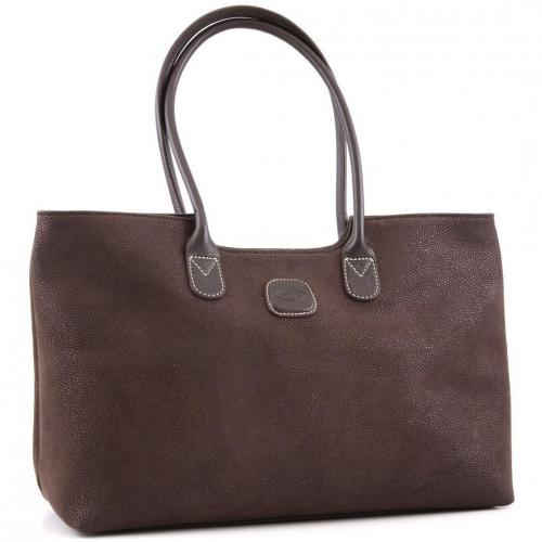 brics life shopper leder braun designer handtaschen. Black Bedroom Furniture Sets. Home Design Ideas