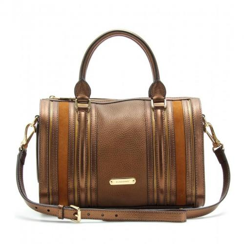 Burberry London Alchester Metallic-Bowling-Bag