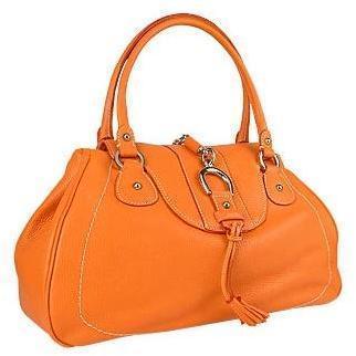 Buti Italienische Lederhandtasche in orange