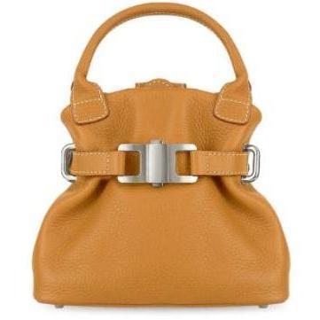 Buti Kleine Handtasche aus weichem Leder in kamelfarben