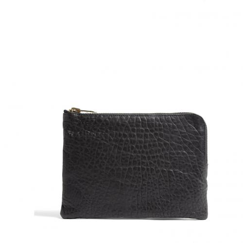 Cala & Jade Batu Black Small Zip Top Clutch