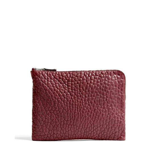 Cala & Jade Batu Bordeaux Small Zip Top Clutch