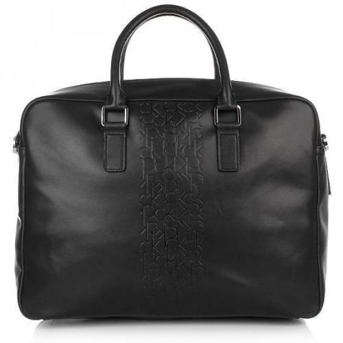 Calvin Klein Briefcase Cow Leather Black