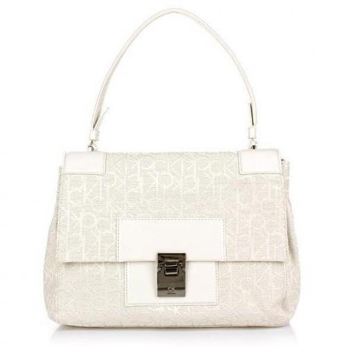 Calvin Klein Medium Messenger Jacquard White