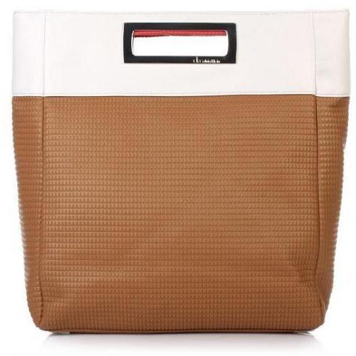 Calvin Klein Shopping Bag Brown-White