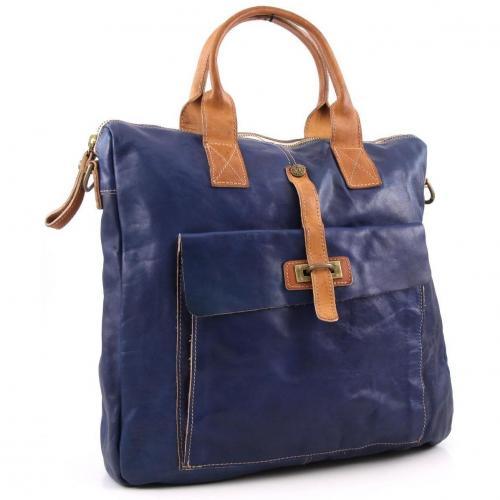 Campomaggi Lavaggio Stone Shopper Leder blau