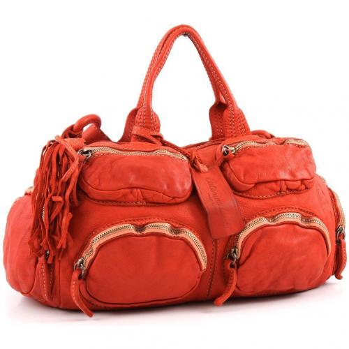 Caterina Lucchi Henkeltasche Leder orange