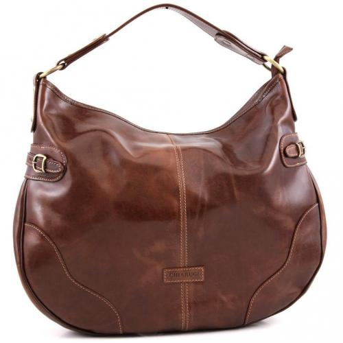 chiarugi classic beuteltasche leder braun designer handtaschen paradies it bags burberry. Black Bedroom Furniture Sets. Home Design Ideas
