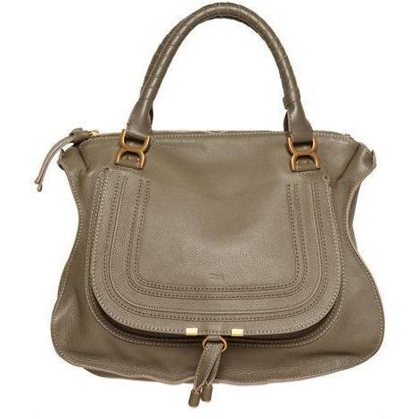 Chloé - Große Marcie Textured Leder Handtasche
