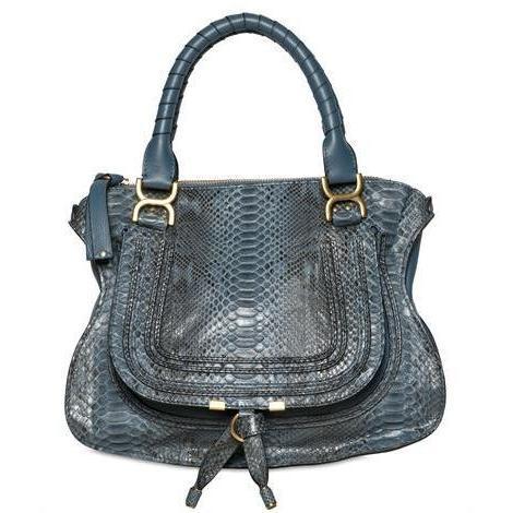 Chloé - Medium Marcie Handtasche In Python