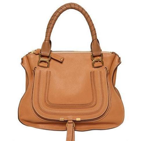 Chloé - Medium Marcie Leder Handtasche Schwarz