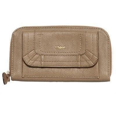 Chloé - Paraty Grained Leder Langer Zip Brieftasche