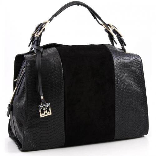 coccinelle astrid pitone henkeltasche leder schwarz designer handtaschen paradies it bags. Black Bedroom Furniture Sets. Home Design Ideas