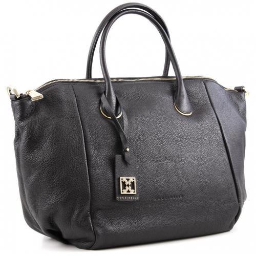 coccinelle clara shopper leder schwarz designer handtaschen paradies it bags burberry gucci. Black Bedroom Furniture Sets. Home Design Ideas