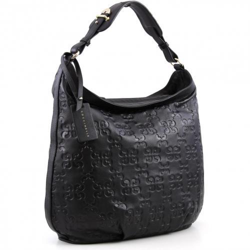 Coccinelle Dressy Leather Beuteltasche Leder schwarz