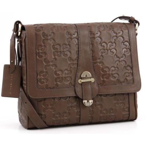 Coccinelle Dressy Leather Schultertasche Leder natur
