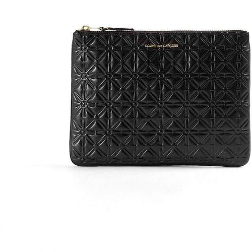 Comme des Garcons Black Star Embossed Leather Pouch