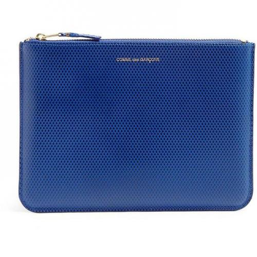 Comme des Garcons Blue Luxury Leather Clutch