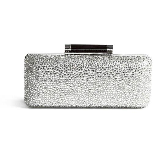 Diane von Furstenberg Pave Crystal and Patent Large Tonda Clutch