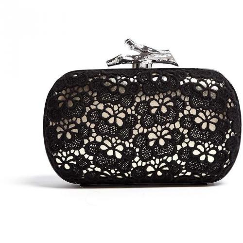 Diane von Furstenberg Small Lytton Lace on Leather Clutch